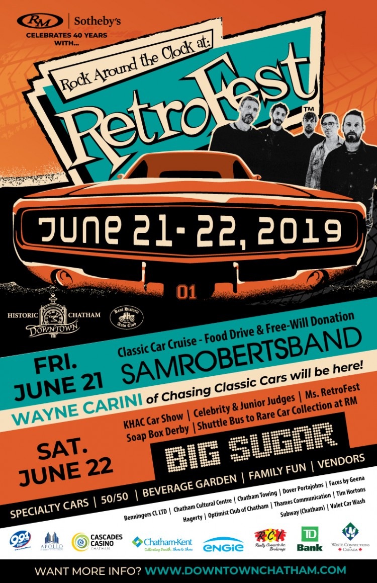 Historic Downtown Chatham – RetroFest™ 2019