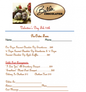 Pre-order your Valentines Day Chocolates from Bella Chocolatier @ Bella Chocolatier