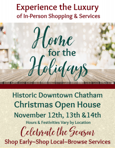 Home for the Holidays - Christmas Open House @ Downtown Chatham