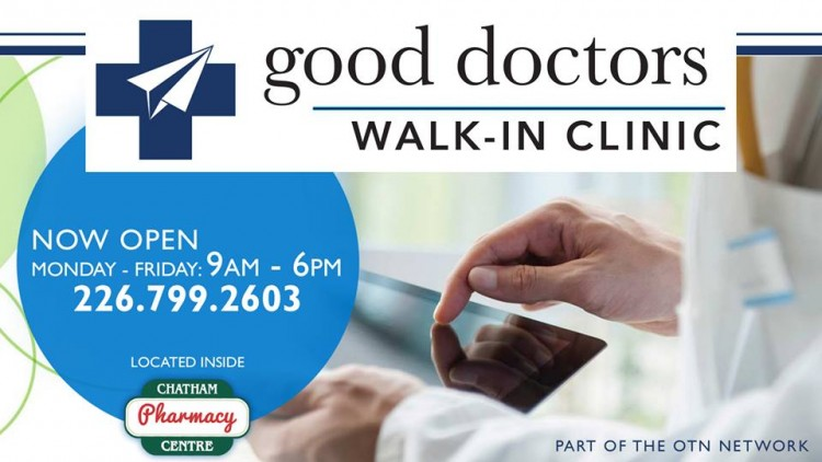 Walk-in clinic is open  at Chatham Centre Guardian Pharmacy