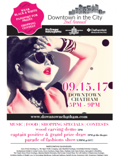 2nd Annual Downtown in the City Event Poster