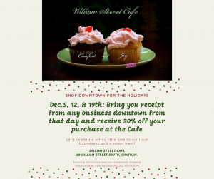 William Street Cafe offer @ William St. Cafe and all Businesses DT